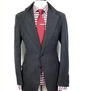 GUCCI TOM FORD MENS GREY & BLACK HOUNDSTOOTH CHECK